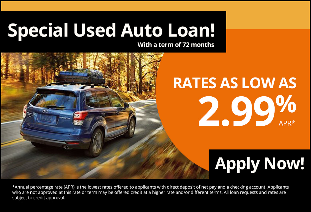 Special Used Auto Loan!