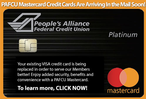 PAFCU Mastercards are coming soon!!